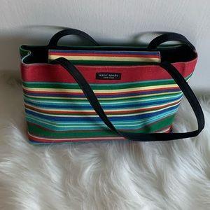 Vintage Kate Spade Striped Multicolor Shoulder Bag